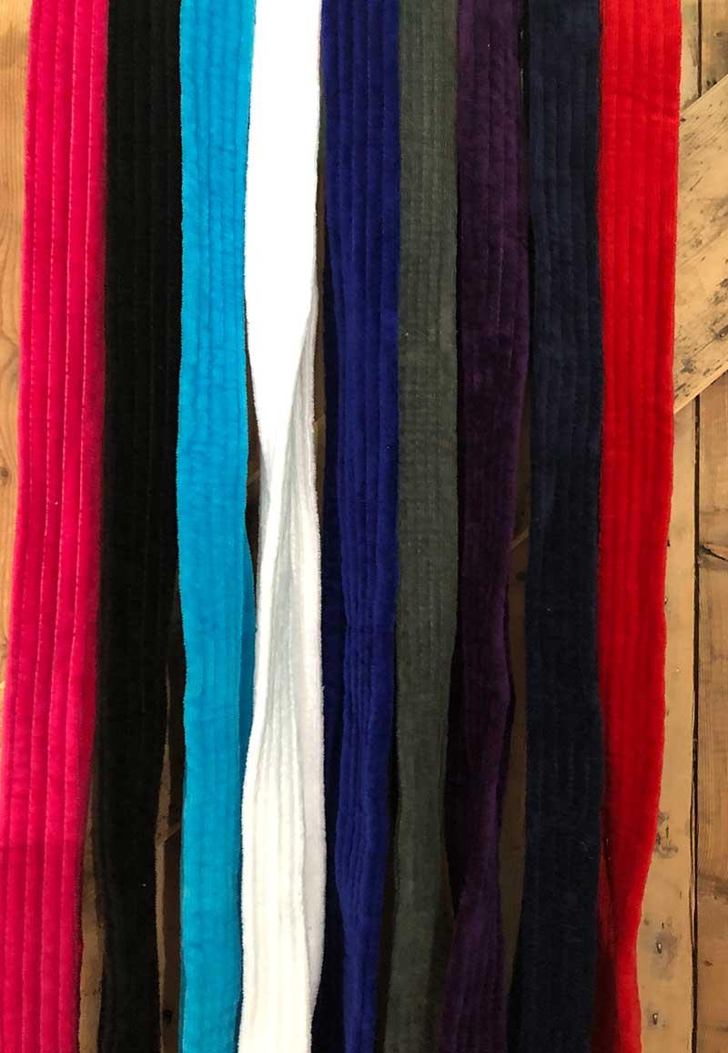 Badjas ceintuur velours - diverse kleuren-rood