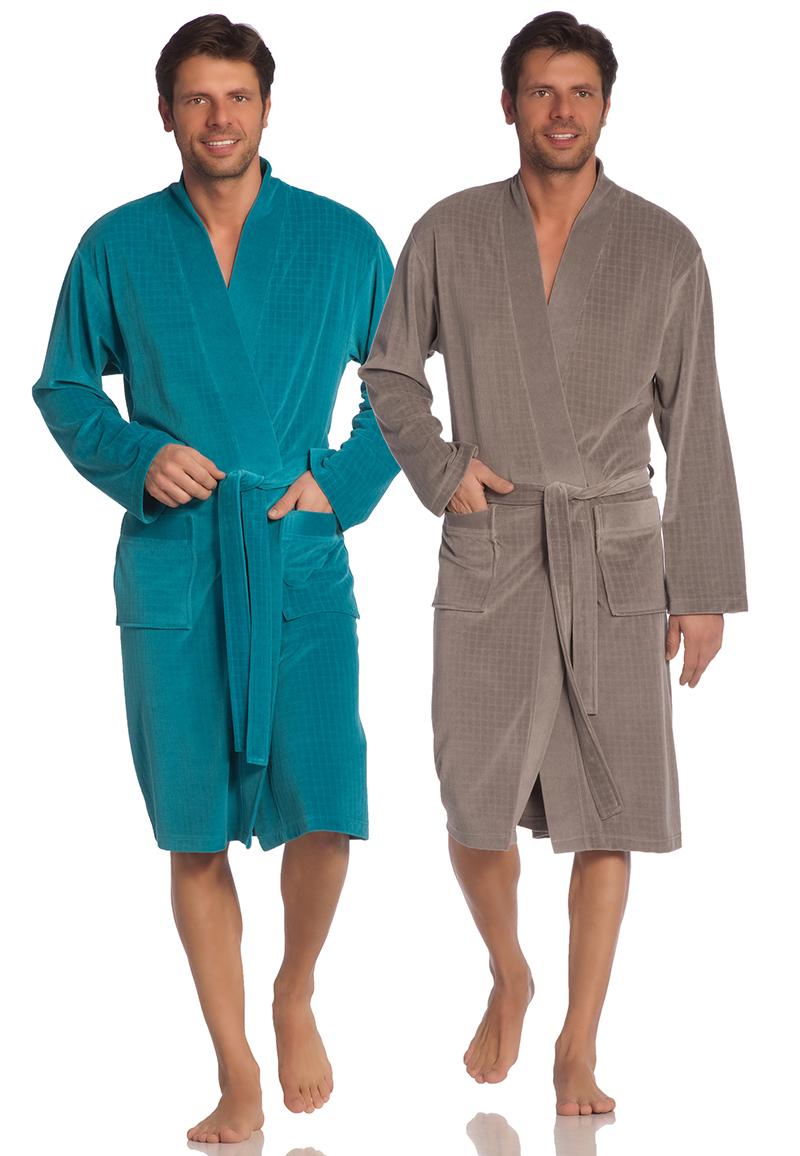 Vossen badjas heren-blauw-2xl