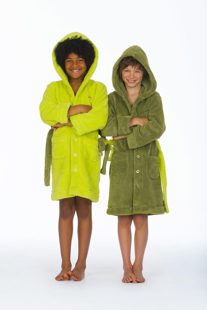 Woody kinderbadjas Limegroen of groen-groen-6 jaar