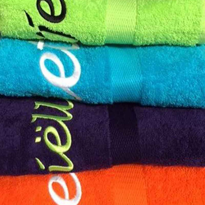 Handdoek met naam of bedrijfslogo