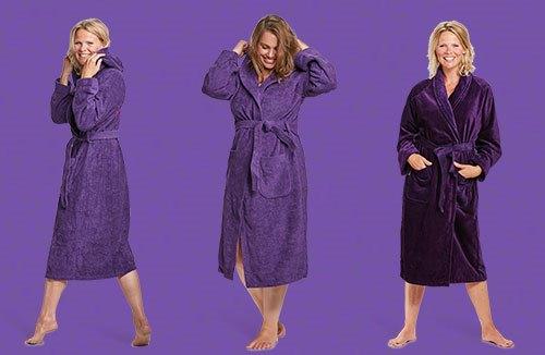 paarse badjassen