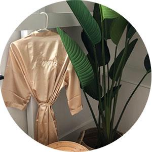 personaliseren kimono chamgpagne