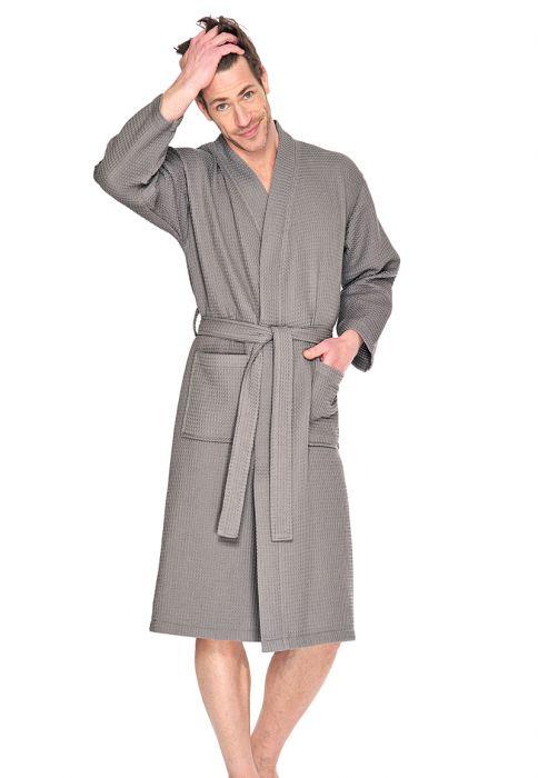 sauna badjas taupe