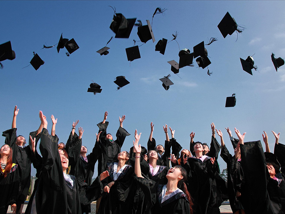 Bij je diploma uitreiking