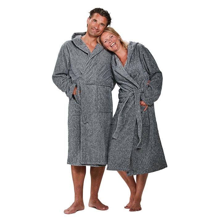 Ik wil een badjas kopen. Welke maat kies ik?