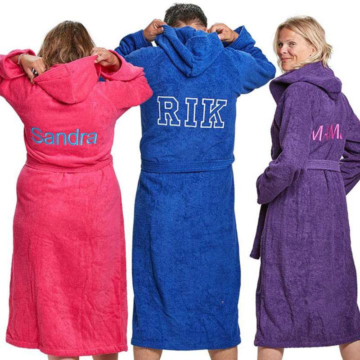 Hoe kan ik mijn badjas laten personaliseren?
