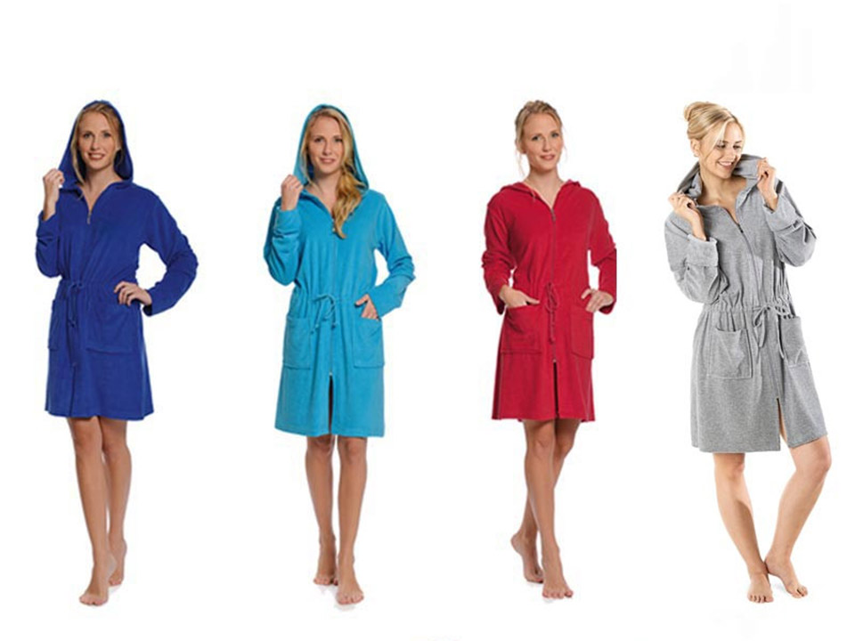Badjas met rits in trendy kleuren kopen bij Badjasparadijs.nl