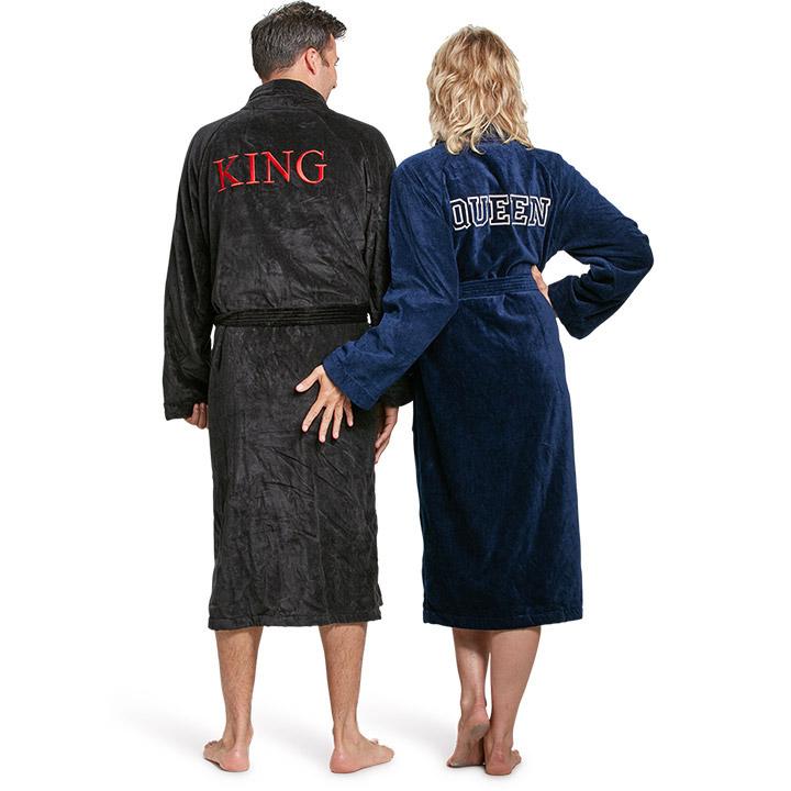 Badjassen met naam als huwelijksgeschenk