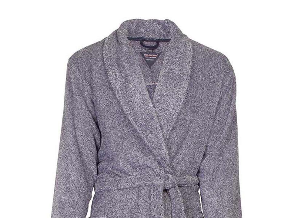 Budget herenbadjas van fleece heerlijk zacht & warm