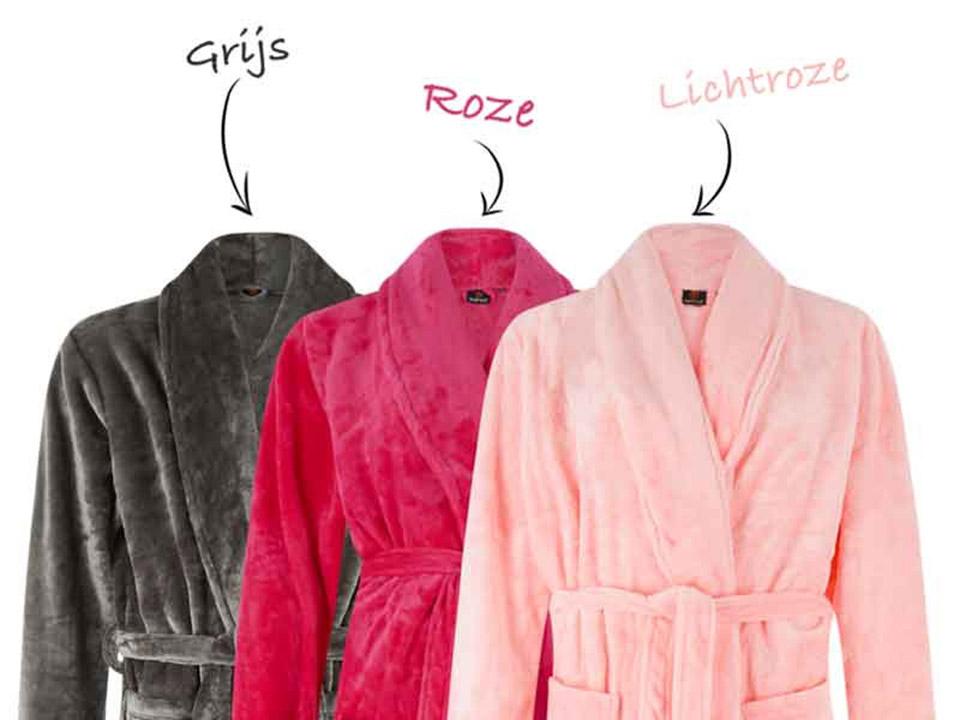 Fleece badjas met naam