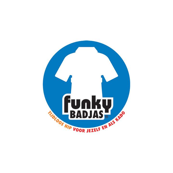 Funky badjas merk logo