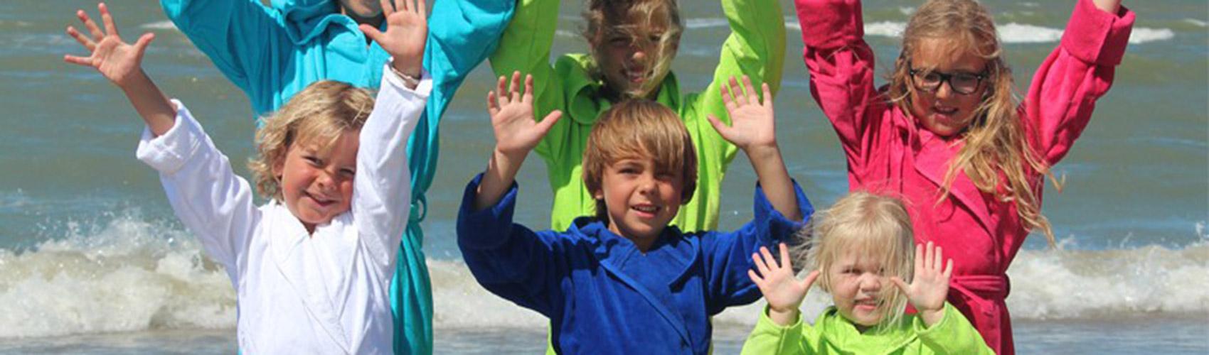 Kinderbadjassen en babybadjassen bij Badjasparadijs