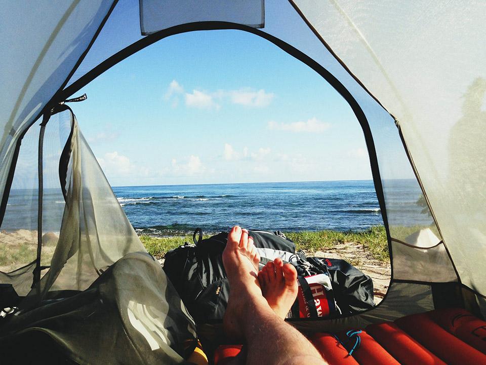 Naar de camping met je badjas