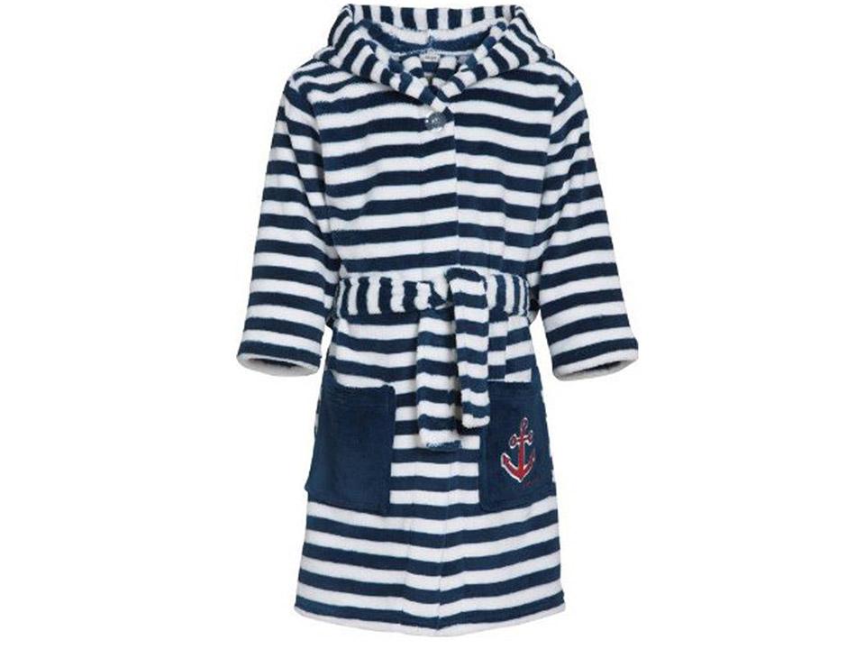 Vakantiebadjas voor u kind Playshoes badjas kind strepen