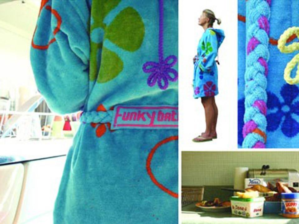 Sixties badjas voor hippe dames