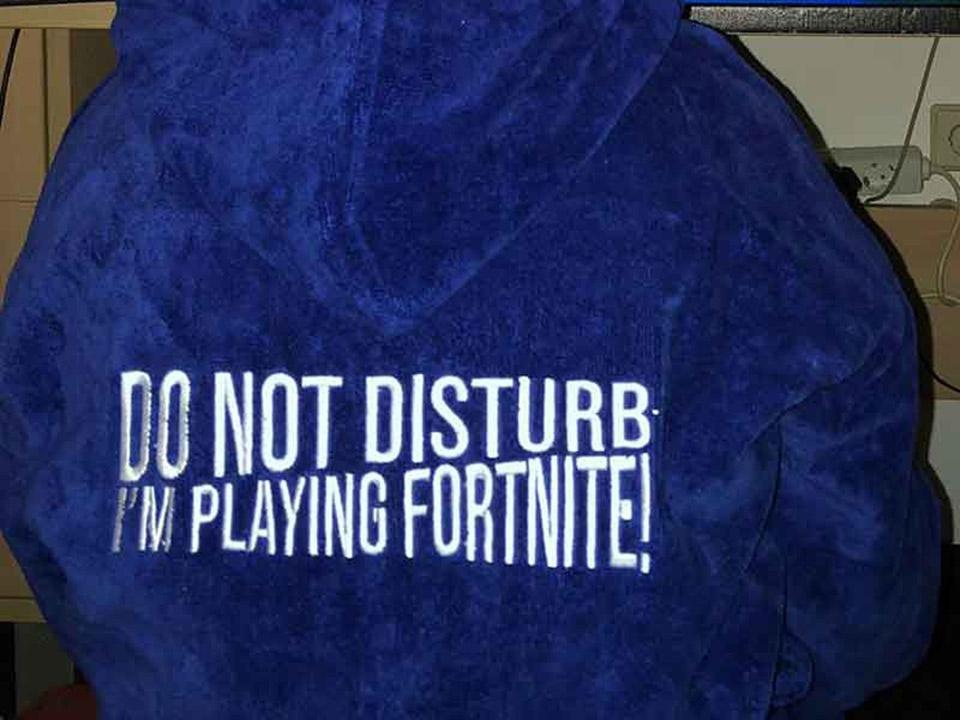 Welke tekst op een kinderbadjas?