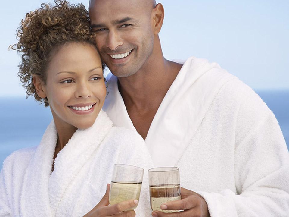 Vakantie - op vakantie is een badjas onmisbaar