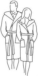 Vossen badjassen voor hem en haar