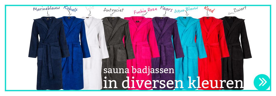 badjassen capuchon in diversen kleuren