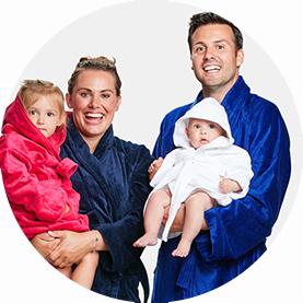 badjas-familie