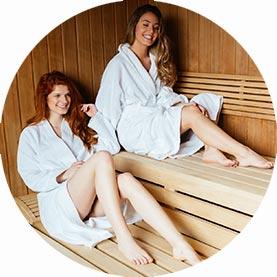 sauna badjas thuis