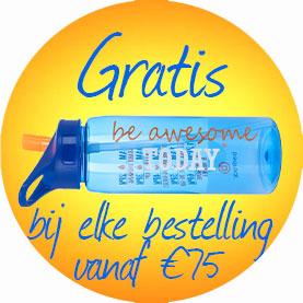 gratis waterfles bij een bestelling vanaf 75